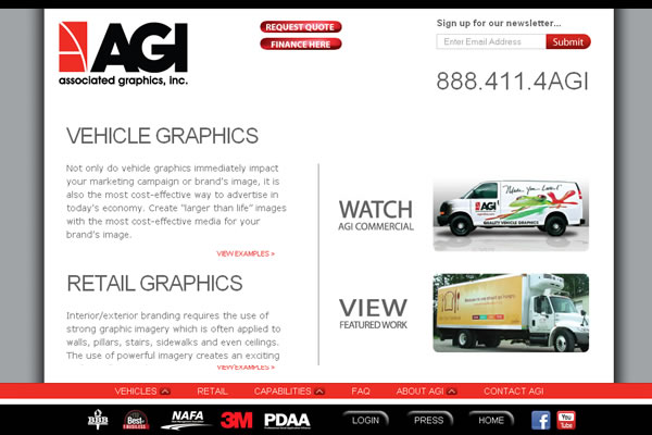 Associated Graphics, Inc. Website Design