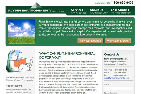 Flynn Environmental, Inc. Website Design