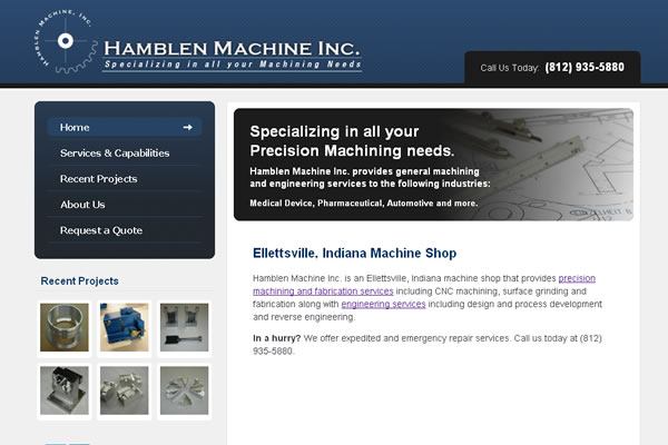 Hamblen Machine, Inc. Website Design