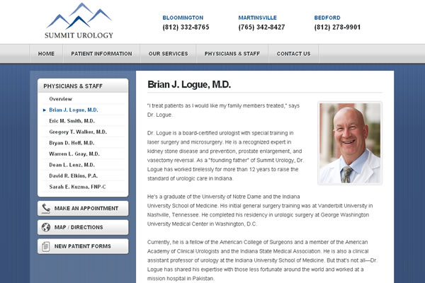 Summit Urology Website Design