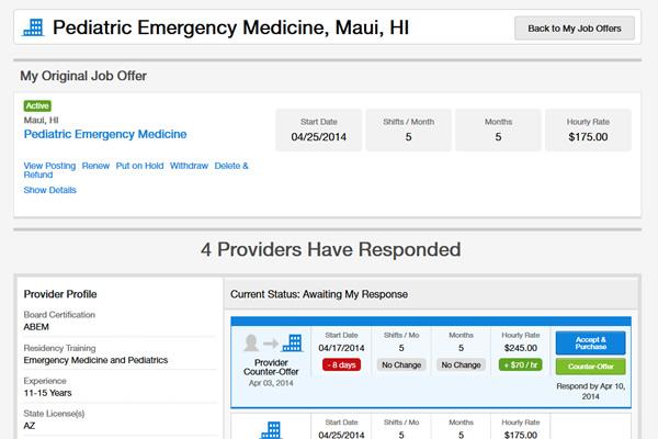 MedicalMoonlighting.com Website Design