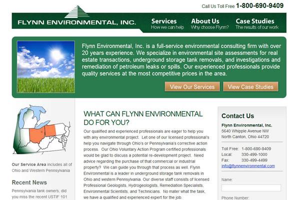 Flynn Environmental, Inc. Website Design