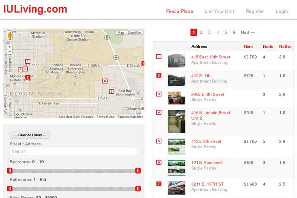 IULiving.com Website Design